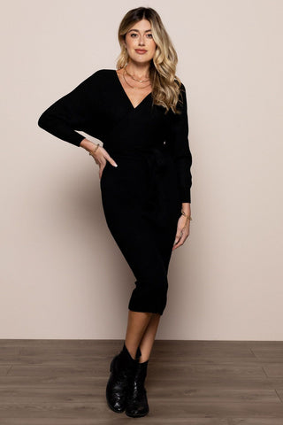 Katie Sweater Dress in Black