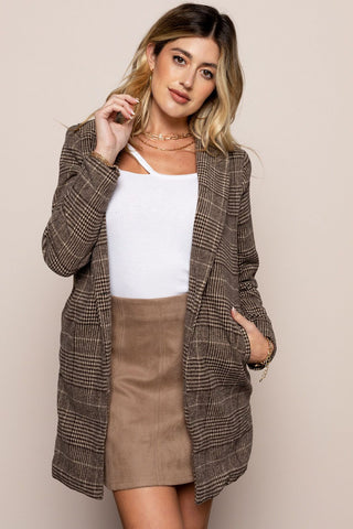 Miss Independent Jacket in Brown