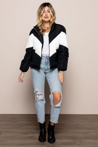 Ski Bunny Jacket in Black