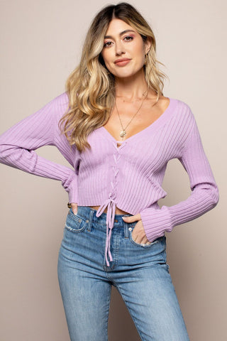 Lilianna Sweater in Purple