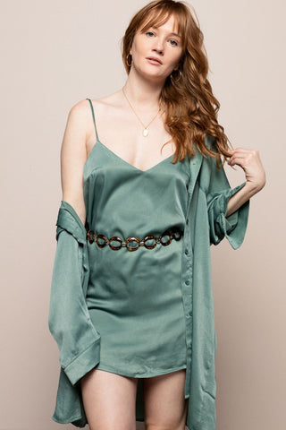 Slip Dress in Sage
