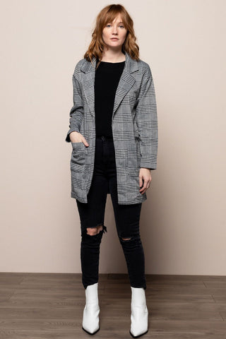 Plaid Jacket in Gray