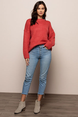 Secret Language Sweater in Coral