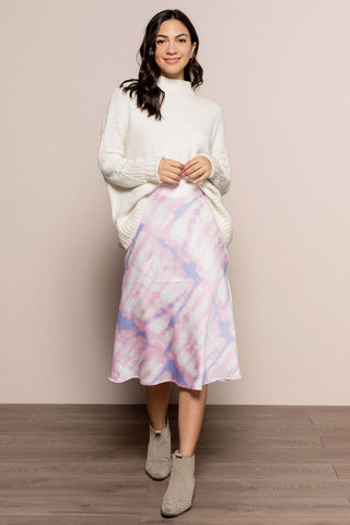 Astra Midi Skirt in Pink