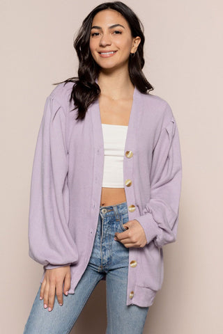 Maddy Cardigan in Purple
