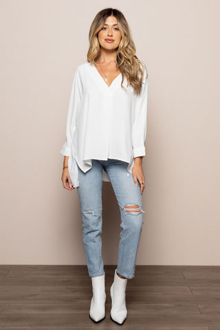 Hayes Blouse in White
