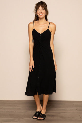 Front Twist Dress in Black