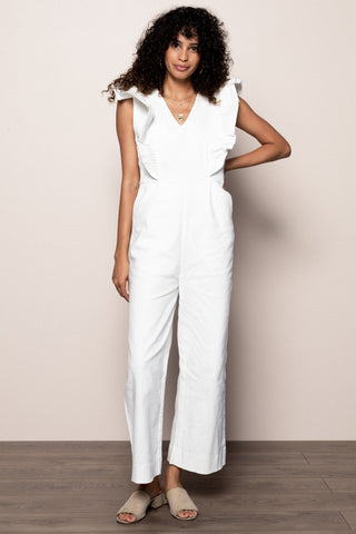 Carmen Jumpsuit in White