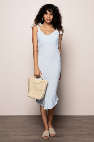 Perfectly Punctual Midi  in Blue