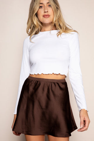 Starlet Skirt in Brown