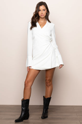 London Time Dress in White