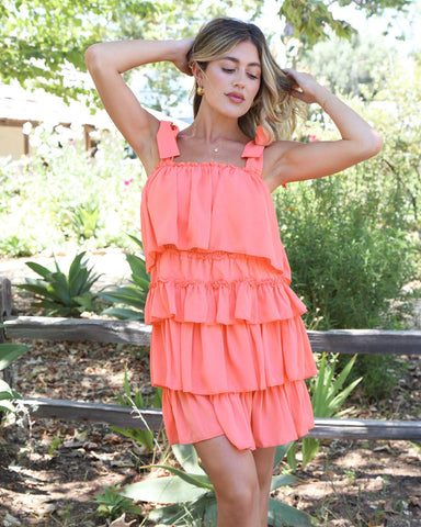Catch The Sunset Mini in Coral