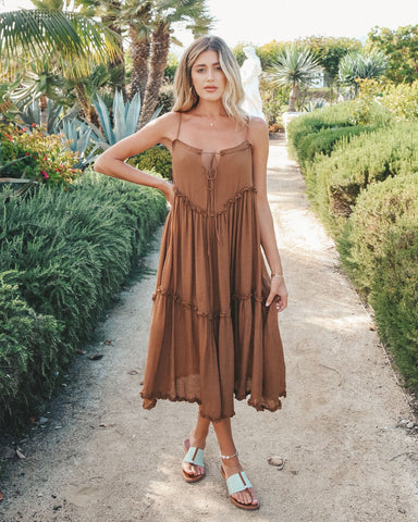 Easy Breezy Midi in Brown