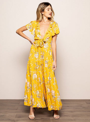 Gemma Jumpsuit in Yellow