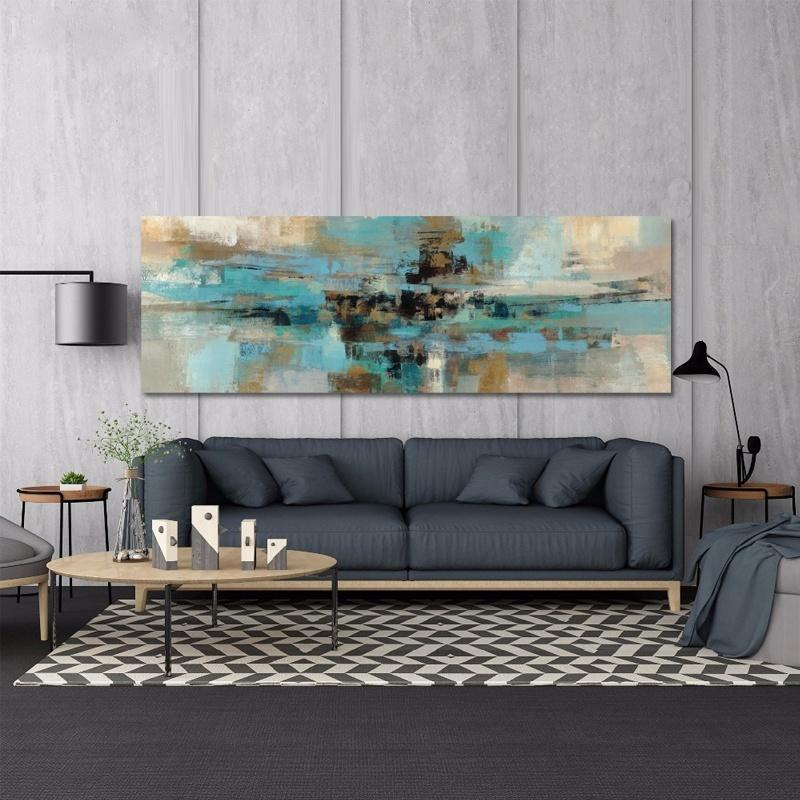 Navy Blue Canvas Painting Posters and Prints on Canvas Modern Abstract Oil Painting Prints on the Wall Art for Living Room Cuadros Decoracion Salon
