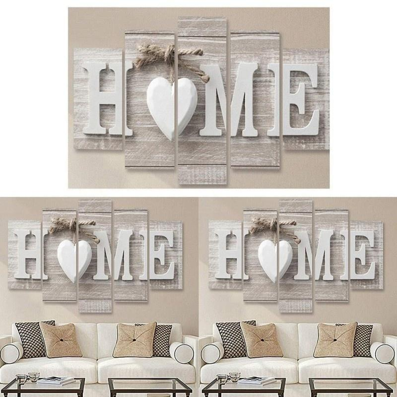 5Pcs Concise Fashion Wall Paintings Home Letter Prints Photo Paintings Wall Art For Home Decorations Paintings