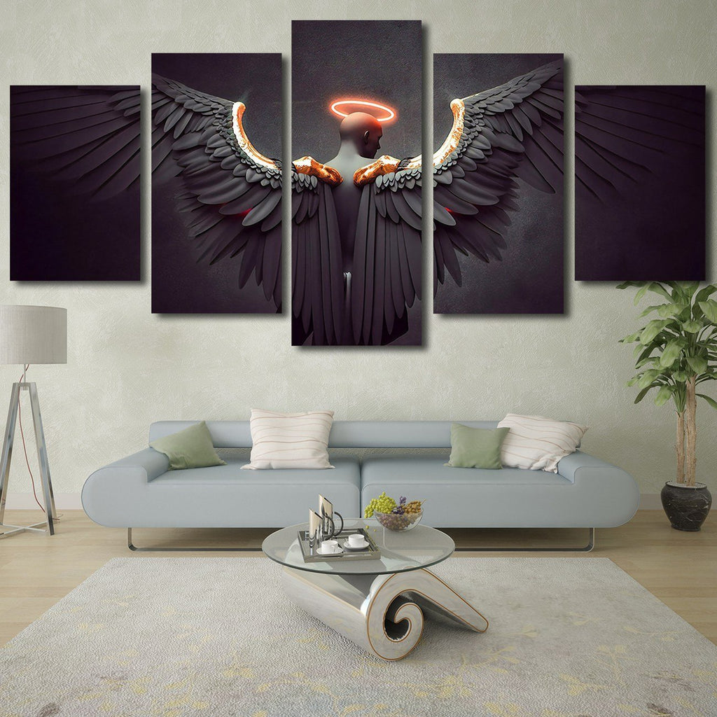 Dark Angel Wings HD Modern Home Wall Decor Photography Canvas Print Oil Painting Wall Art Picture House Decoration Posters
