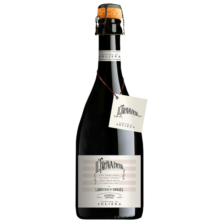 "Cantina di Soliera, ""II Trovador"", Lambrusco di Sorbara, Italy, NV (SPARKLING RED) through Merchant of Wine's online store."
