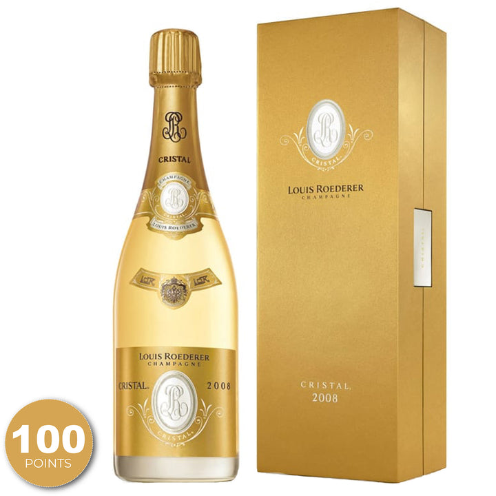 Louis Roederer, Cristal Brut, Champagne, France, 2008 through Merchant of Wine.
