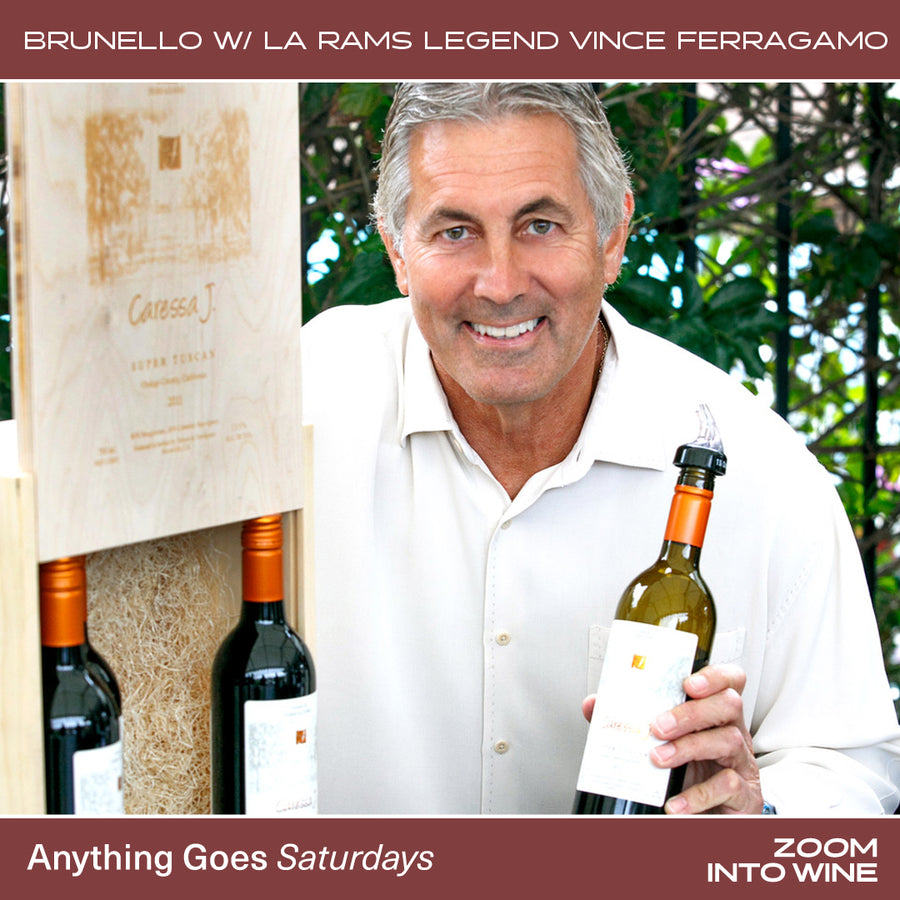 Saturday, March 6th @ 7pm | Brunello Taste-off w/ LA Rams Legend Vince Ferragamo