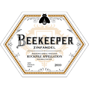Beekeeper Cellars, Zinfandel, Madrone Spring Vineyard, Rockpile, Sonoma County, California, 2010 - Merchant of Wine