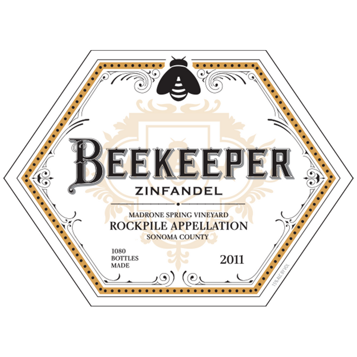 Beekeeper Cellars, Zinfandel, Madrone Spring Vineyard, Rockpile, Sonoma County, California, 2011 - Merchant of Wine