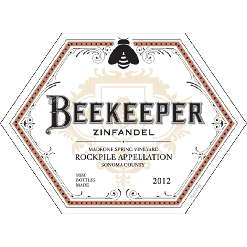 Beekeeper Cellars, Zinfandel, Madrone Spring Vineyard, Rockpile, Sonoma County, California, 2012 - Merchant of Wine