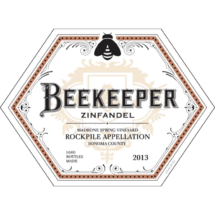 Beekeeper Cellars, Zinfandel, Madrone Spring Vineyard, Rockpile, Sonoma County, California, 2013 - Merchant of Wine