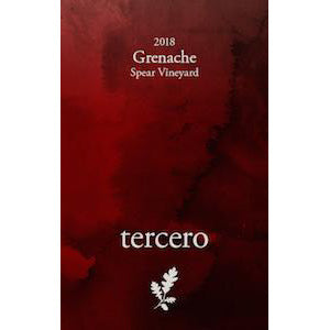 Tercero Wines, Spear Vineyard, Santa Barbara County, California, 2018
