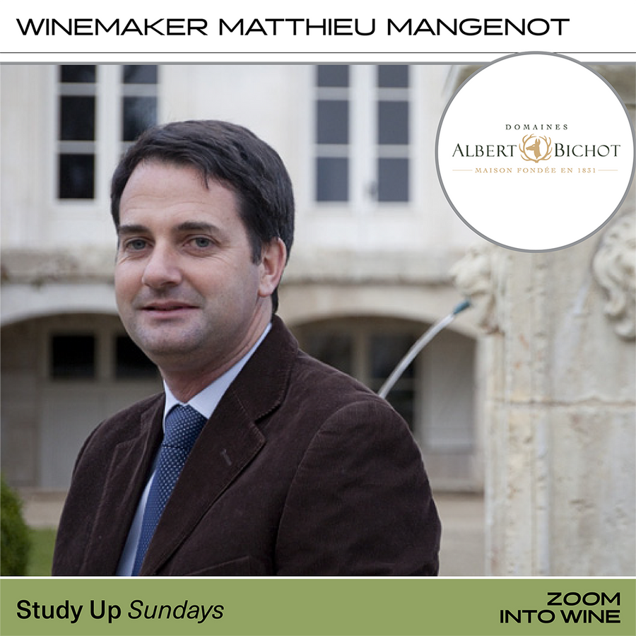 Sunday, October 18th @ 5pm - Zoom Into Wine: Study of Chablis w/ Albert Bichot & Winemaker Matthieu Mangenot