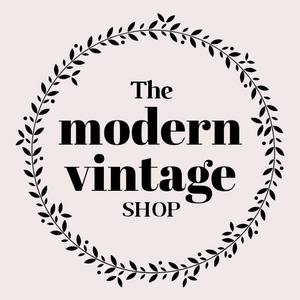 modern vintage shop logo with black and pink. retro inspired tees