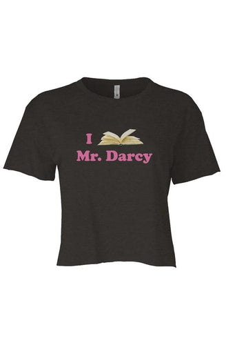 I Love Mr. Darcy Flowy Crop Top - The Modern Vintage Shop T-Shirt
