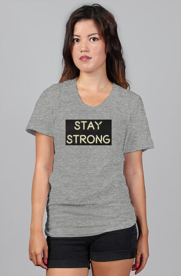 Stay Strong Neon Women's Relaxed Tee