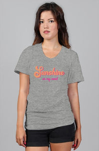 Sunshine On My Mind Retro Pink Women's Relaxed T-Shirt