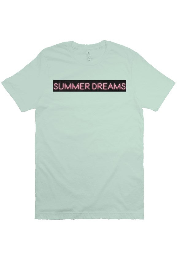 Summer Dreams Pink Neon Unisex Short Sleeve T-Shirt