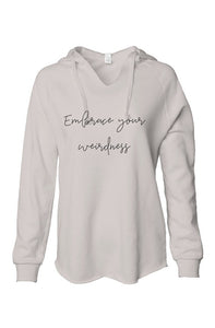 Embrace Your Weirdness Cream Fleece Hoodie