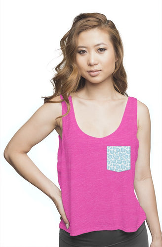 Hot Pink Flowy Tank Top