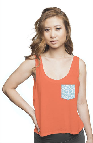 Orange Flowy Tank Top