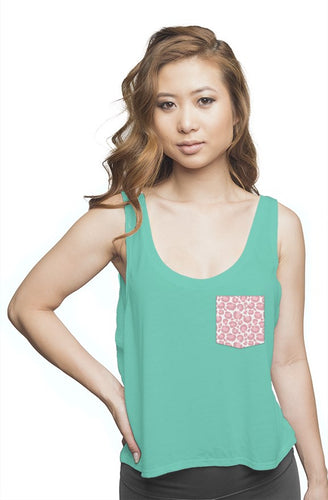 Mint Flowy Tank Top
