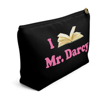 Load image into Gallery viewer, Mr. Darcy PERSONALIZED Accessory pouch with T-Bottom Cosmetic Bag - The Modern Vintage Shop T-Shirt