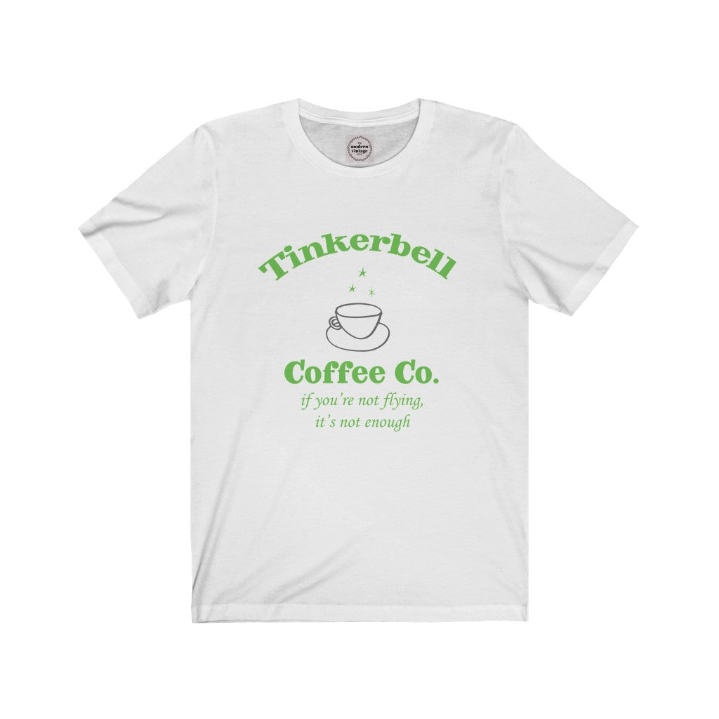 Tinkerbell Shirt with Green Design, Unisex Jersey Short Sleeve Tee, Fairy or Pixie tee in eco-friendly Bella Canvas Tee