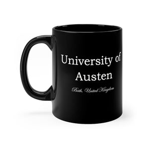 Jane Austen University of Austen Bath United Kingdom Black mug 11oz - The Modern Vintage Shop T-Shirt