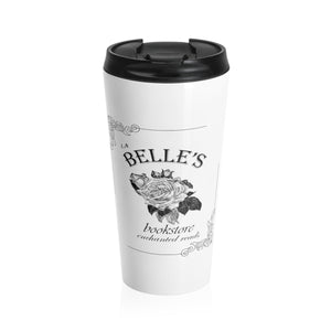 Belle's Bookstore Stainless Steele Travel Mug - The Modern Vintage Shop T-Shirt