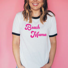 Load image into Gallery viewer, Beach Mama Retro Unisex Ringer Tee