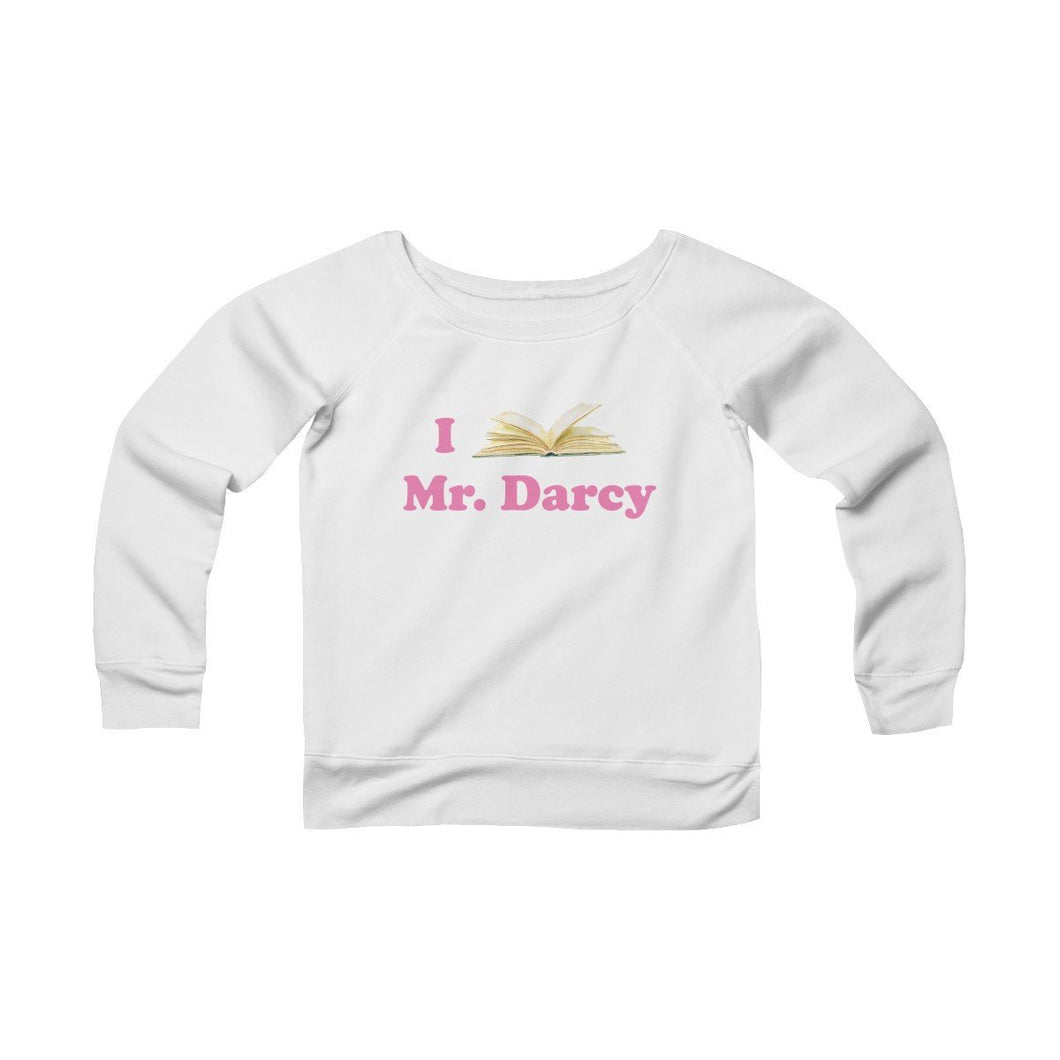 Jane Austen Mr Darcy Women's Sponge Fleece Wide Neck Sweatshirt - The Modern Vintage Shop T-Shirt