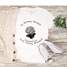 Load image into Gallery viewer, Romeo and Juliet Shirt Quote Short Sleeve T-Shirt - The Modern Vintage Shop T-Shirt