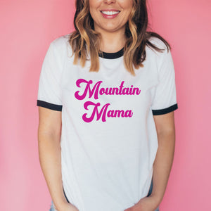 Mountain Mama Unisex Retro Ringer Tee - The Modern Vintage Shop T-Shirt