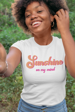 Load image into Gallery viewer, Sunshine On My Mind Retro Pink Women's Relaxed T-Shirt