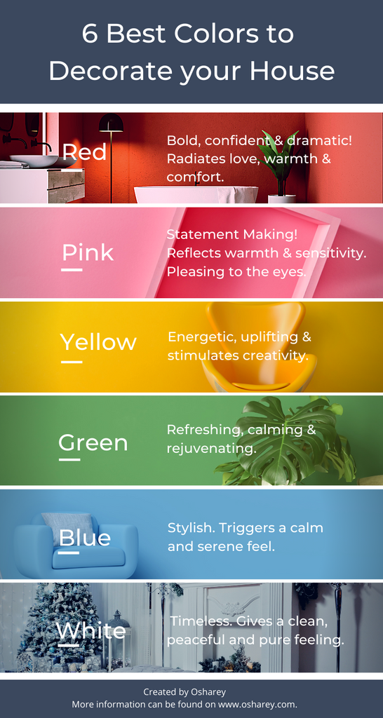 6 Best Colors to decorate your house - Infographics