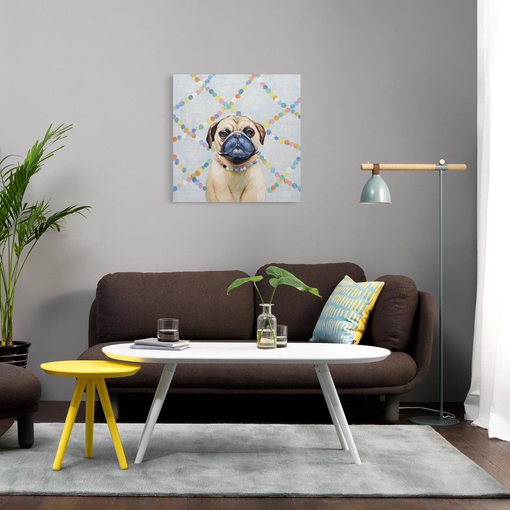 Pug - Painting - Osharey Framed Wall Art